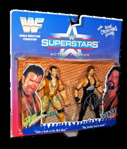 Razor Ramon & Diesel Autographed JAKKS Pacific WWF Superstars Limited Edition 2 Pack Figures