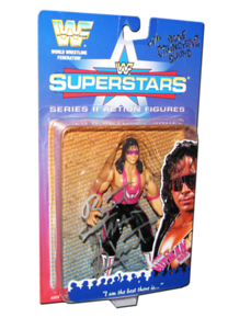 Bret Hart Autographed JAKKS Pacific WWF Superstars Series 2 Figure