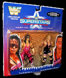 Bret Hart & Owen Hart JAKKS Pacific WWF Superstars Limited Edition 2-Pack Figures Signed by Bret Hart