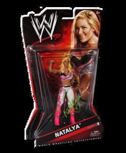 Natalya Autographed WWE Basic Mattel Series 9 Figure