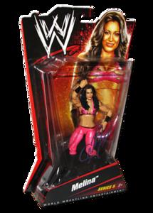 Melina Autographed WWE Basic Mattel Series 5 Figure
