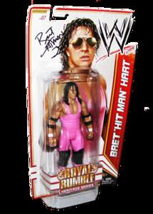 "Bret ""Hitman"" Hart Autographed WWE Basic Mattel Series 14 Figure (Royal Rumble Heritage Series)"