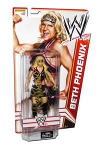 Beth Phoenix Autographed WWE Basic Mattel Series 21 Figure