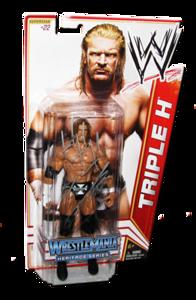 Triple H Autographed WWE Basic Mattel Series 16 Figure (Wrestlemania Heritage Series)