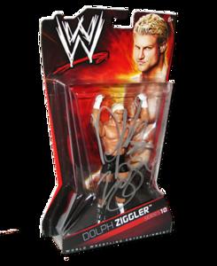 Dolph Ziggler Autographed WWE Basic Mattel Series 10 Figure