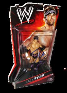 Zack Ryder Autographed WWE Basic Mattel Series 10 Figure