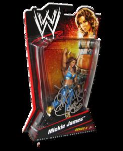 Mickie James Autographed WWE Basic Mattel Series 3 Figure