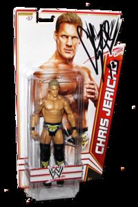 Chris Jericho Autographed WWE Basic Mattel Series 22 Figure