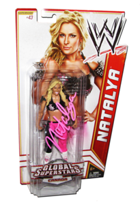 Natalya Autographed WWE Basic Mattel Series 20 Figure (Global Superstars Canada)