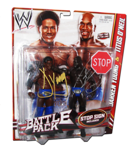 The Prime Time Players (Darren Young & Titus O'Neil) Autographed WWE Mattel Battle Pack Series 21 Figures