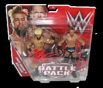 Enzo Amore & Big Cass Autographed WWE Mattel Battle Pack Series 45 Figures