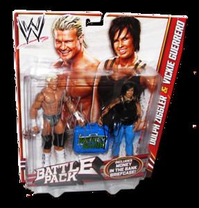 Dolph Ziggler & Vickie Guerrero Autographed WWE Mattel Battle Pack Series 22 Figures
