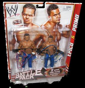 Epico & Primo Autographed WWE Mattel Battle Pack Series 19 Figures