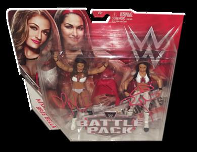 The Bella Twins (Brie & Nikki) Autographed WWE Mattel Battle Pack Series 43 Figures