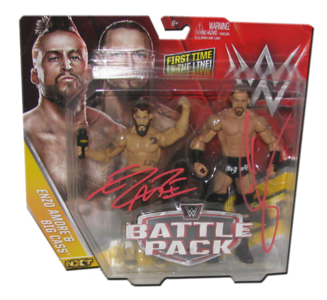 Enzo Amore & Big Cass Autographed WWE Mattel Battle Pack Series 49 Figures
