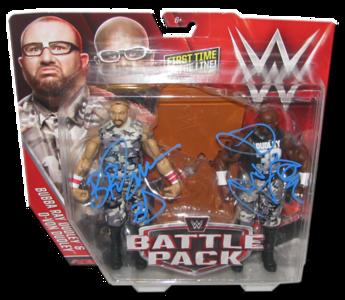 The Dudley Boyz (Bubba Ray & D-Von) Autographed WWE Mattel Battle Pack Series 41 Figures