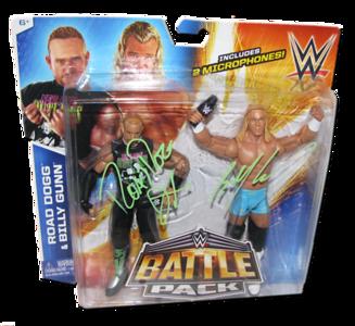 Road Dogg & Billy Gunn Autographed WWE Mattel Battle Pack Series 32 Figures