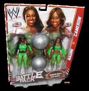 The Funkadactyls (Naomi & Cameron) Autographed WWE Mattel Battle Pack Series 24 Figures
