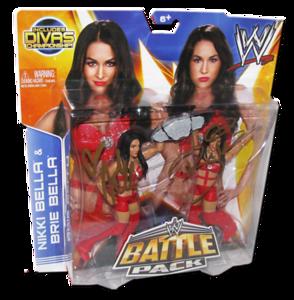 The Bella Twins (Brie & Nikki) Autographed WWE Mattel Battle Pack Series 26 Figures