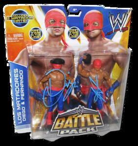Los Matadores (Diego & Fernando) Autographed WWE Mattel Battle Pack Series 29 Figures