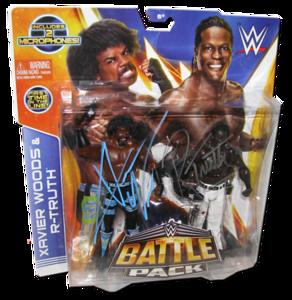 Xavier Woods & R-Truth Autographed WWE Mattel Battle Pack Series 30 Figures