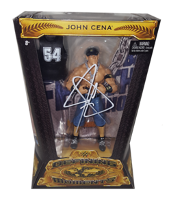 "John Cena Autographed ""Word Life"" Mattel WWE Defining Moments Figure"