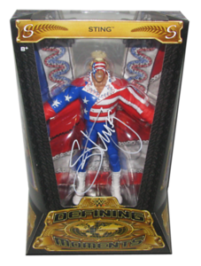"""""""Great American Bash"""" Sting Autographed Mattel WWE Defining Moments Figure"""
