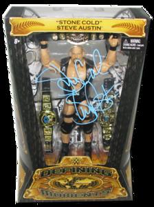 Stone Cold Steve Austin Autographed Mattel WWE Defining Moments Figure