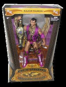 Razor Ramon Autographed Mattel WWE Defining Moments Figure