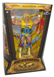 Hulk Hogan Autographed Mattel WWE Defining Moments Figure