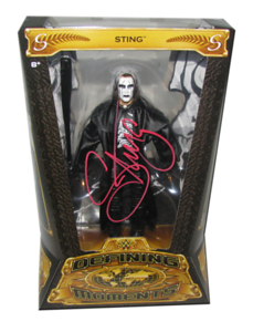 """""""Crow"""" Sting Autographed Mattel WWE Defining Moments Figure"""