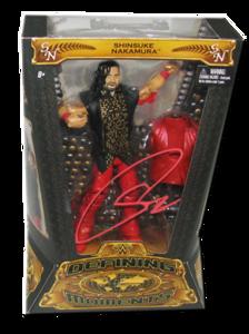 Shinsuke Nakamura Autographed Mattel WWE Defining Moments Figure