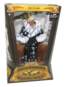 Ric Flair Autographed Mattel WWE Defining Moments Figure