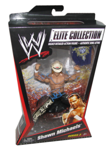 Shawn Michaels Autographed Mattel WWE ELITE COLLECTION Series 3 Figure