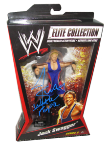 Jack Swagger Autographed Mattel WWE ELITE COLLECTION Series 5 Figure