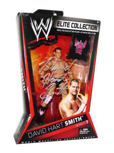 David Hart Smith Autographed Mattel WWE ELITE COLLECTION Series 7 Figure