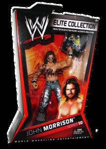 John Morrison Autographed Mattel WWE ELITE COLLECTION Series 10 Figure