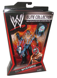 Rey Mysterio Autographed Mattel WWE ELITE COLLECTION Series 11 Figure