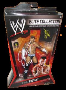 CM Punk Autographed Mattel WWE ELITE COLLECTION Series 11 Figure