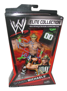 Shawn Michaels Autographed Mattel WWE ELITE COLLECTION Series 7 Figure