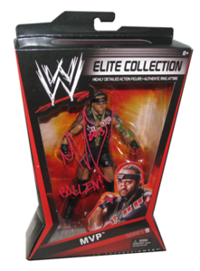 MVP Autographed Mattel WWE ELITE COLLECTION Series 9 Figure