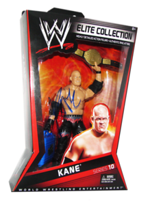 Kane Autographed Mattel WWE ELITE COLLECTION Series 10 Figure