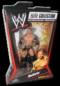 Batista Autographed Mattel WWE ELITE COLLECTION Series 6 Figure