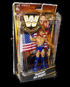 """Hacksaw"" Jim Duggan Autographed Mattel WWE LEGNDS Series 3 Figure"