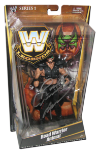 Road Warrior Animal Autographed Mattel WWE LEGENDS Series 1 Figure
