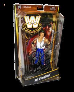 Sgt. Slaughter Autographed Mattel WWE LEGENDS Series 1 Figure