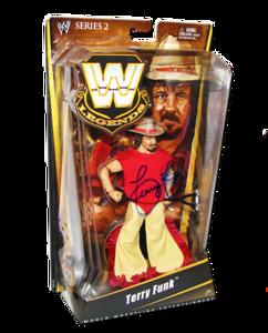 Terry Funk Autographed Mattel WWE LEGENDS Series 2 Figure