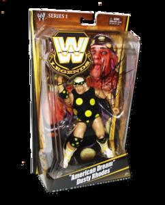 """American Dream"" Dusty Rhodes Autographed Mattel WWE LEGENDS Series 1 Figure"