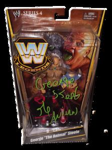 """George """"The Animal"""" Steele Autographed Mattel WWE LEGENDS Series 4 Figure"""