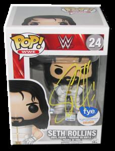Seth Rollins Autographed (f.y.e. Exclusive) WWE POP! Funko Vinyl Figure